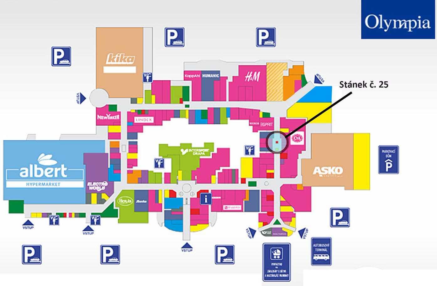 Plán obchodního centra Olympia